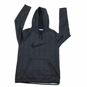 Nike Women's Black/White Dri Fit Hoodie